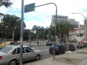 The relatively quiet centre of Rio.