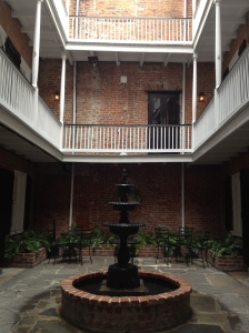 The courtyard in my hotel in New Orleans.