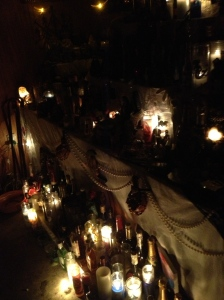 Alter at the voodoo ceremony.