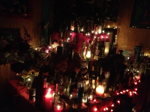 The shrines were covered in candles, not unlike the array of candles you would find in churches across Europe. To many of these people, voodoo was a deeply spiritual and religious practice.
