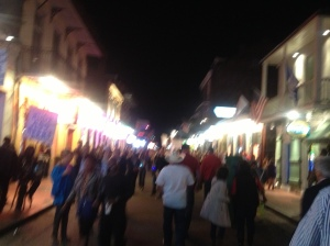 The raucous crowds of Bourbon Street.