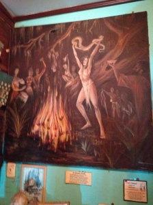 Artwork depicting tradition voodoo ceremonies.
