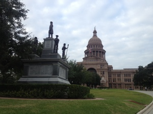 The scene of at the Texas state Capitol building.
