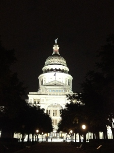 Capitol by night.