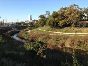 River bank.