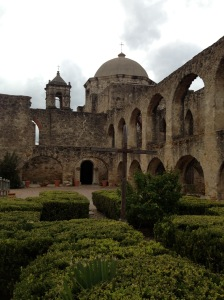 In the grounds of Mission San José.