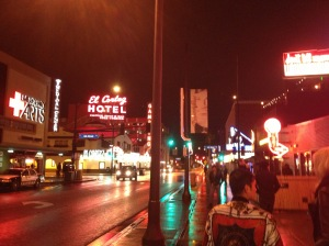 Downtown Las Vegas.