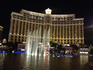 The famous Bellagio Hotel.