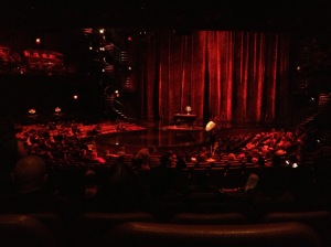 The pre-show Zumanity stage.